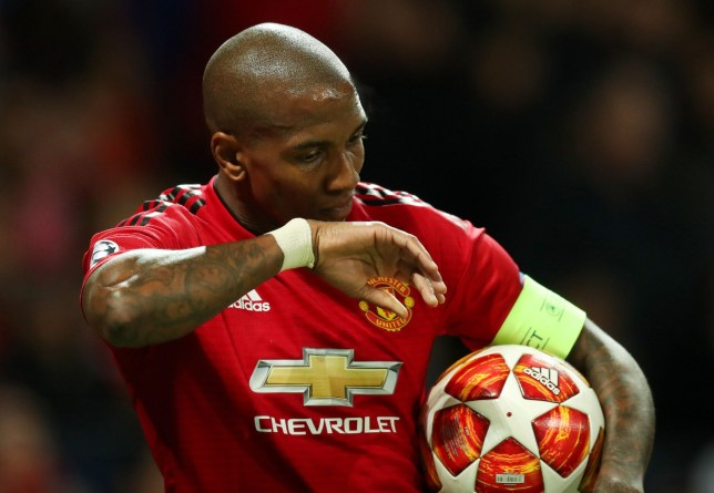 Editorial use only Mandatory Credit: Photo by Paul Currie/BPI/REX (10196917ac) Ashley Young of Manchester United Manchester United v Barcelona, UEFA Champions League Quarter Finals, First Leg Football, Old Trafford, Manchester, UK - 10 Apr 2019