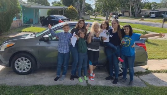 METROGRAB: Anonymous donors buys woman, 20, raising five younger siblings a new car. 20-year-old Samantha Rodriguez walked into a room filled with law enforcement officers. She had been invited to the suburban Orlando sheriff's office but was confused about why she was there. Then they asked her to come up on stage, where one deputy ceremoniously unveiled a picture of a new Nissan Versa.