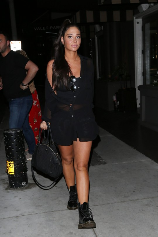 Tulisa Contostavlos seen in Los Angeles ahead of Coachella. 11 Apr 2019 Pictured: Tulisa Contostavlos. Photo credit: Rachpoot/MEGA TheMegaAgency.com +1 888 505 6342 (Mega Agency TagID: MEGA398774_002.jpg) [Photo via Mega Agency]