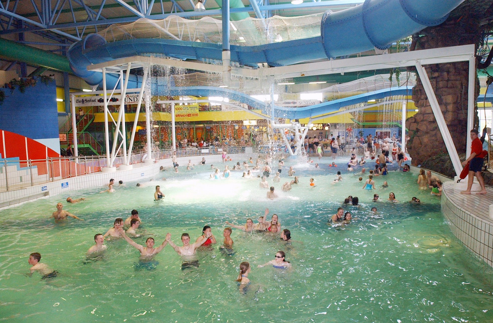 The owner a water park which is set to hold a nude family swim session has labelled criticism that the event could attract sex offenders as 'scaremongering'. Mo Chaudry said Waterworld in Stroke-on-Trent, Staffordshire, had been 'unjustly accused of encouraging paedophiles'. Caption: Waterworld in Stroke-on-Trent, Staffordshire