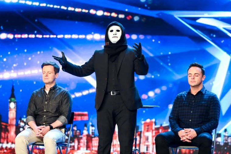 Ant and Dec sit the wrong way around on BGT BGT'S FLIPPING MAGIC Ant and Dec do the unthinkable as magician gets the BGT duo to sit the ?WRONG? way round on Saturday?s show Ant is famously always on the left but a magician called 'X' gets the 43-year-old hosts to swap positions to show their bond ANT McPartlin and Declan Donnelly break with tradition as they ?sit the wrong way round? at Britain?s Got Talent auditions. The cheeky Geordie duo famously always stand with Ant on Dec?s right. But they are set to stun fans during the next episode of the hit ITV show, by swapping places during an audition from a magician called ?X? for one of the first times on telly. The hopeful places Ant, 43, and Dec, also 43, in opposite positions to demonstrate what a strong and undeniable bond they have together.
