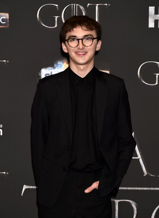 """BELFAST, NORTHERN IRELAND - APRIL 12: Isaac Hempstead Wright attends the """"Game of Thrones"""" Season 8 screening at the Waterfront Hall on April 12, 2019 in Belfast, Northern Ireland. (Photo by Charles McQuillan/Getty Images)"""
