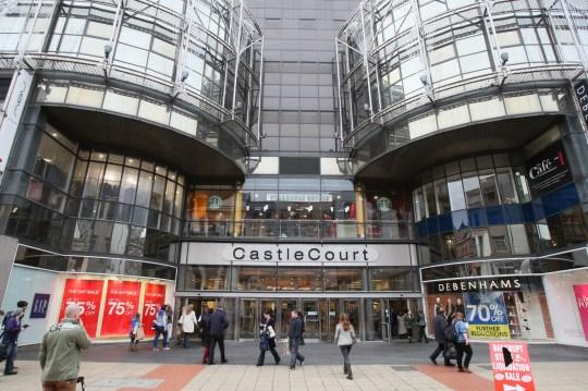 A general view of Castlecourt shopping centre, Belfast
