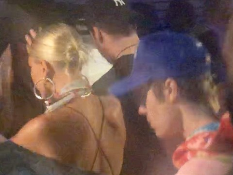 Justin Bieber finally joins wife Hailey Baldwin and her friends in the desert at Coachella