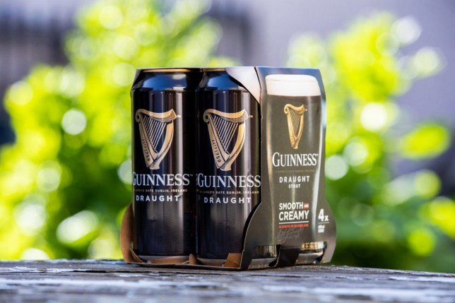 Undated handout photo courtesy of Naoise Culhane of Diageo's new plastic free packaging as seen on Guinness cans, as the company announced it was removing plastic packaging from its beer packs. PRESS ASSOCIATION Photo. Issue date: Monday April 15, 2019. In a bold sustainable move, Diageo is investing ???18.5m (??16m) to reduce the amount of plastics used in its beer packaging by removing the plastic ring carriers and shrink wrap from its multipacks of Guinness, Harp, Rockshore and Smithwick???s. See PA story IRISH Guinness. Photo credit should read: Naoise Culhane/PA Wire NOTE TO EDITORS: This handout photo may only be used in for editorial reporting purposes for the contemporaneous illustration of events, things or the people in the image or facts mentioned in the caption. Reuse of the picture may require further permission from the copyright holder.