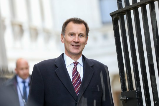 Jeremy Hunt, U.K. foreign secretary, arrives for an emergency meeting of cabinet ministers at number 10 Downing Street in London, U.K., on Monday, March 25, 2019. U.K. Prime Minister Theresa May must confront her increasingly mutinous Cabinet and the latest attempt by Parliament to seize control of the Brexit process. Photographer: Chris Ratcliffe/Bloomberg via Getty Images