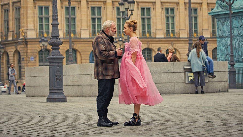 Jodie Comer as Villanelle and Kim Bodnia as Konstantin in Killing Eve