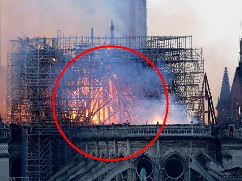 Mum claims she can see Jesus in flames of Notre Dame cathedral