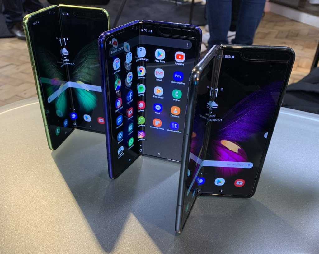 A perspective of a of a new Samsung Galaxy Fold smartphone, that will go on sale in a UK on May 3.