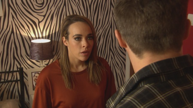 Sinead (Stephanie Davis) has a plan to get away from Laurie (Kyle Pryor)