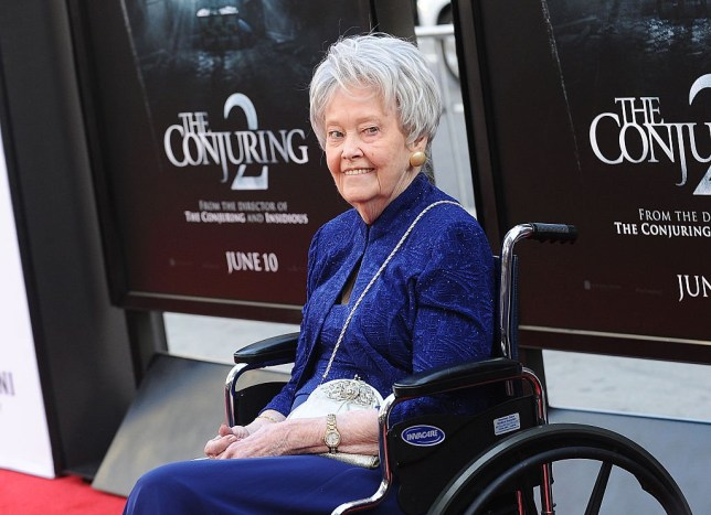 "HOLLYWOOD, CA - JUNE 07: Author/paranormal investigator Lorraine Warren attends the premiere of ""The Conjuring 2"" at the 2016 Los Angeles Film Festival at TCL Chinese Theatre IMAX on June 7, 2016 in Hollywood, California. (Photo by Jason LaVeris/FilmMagic)"