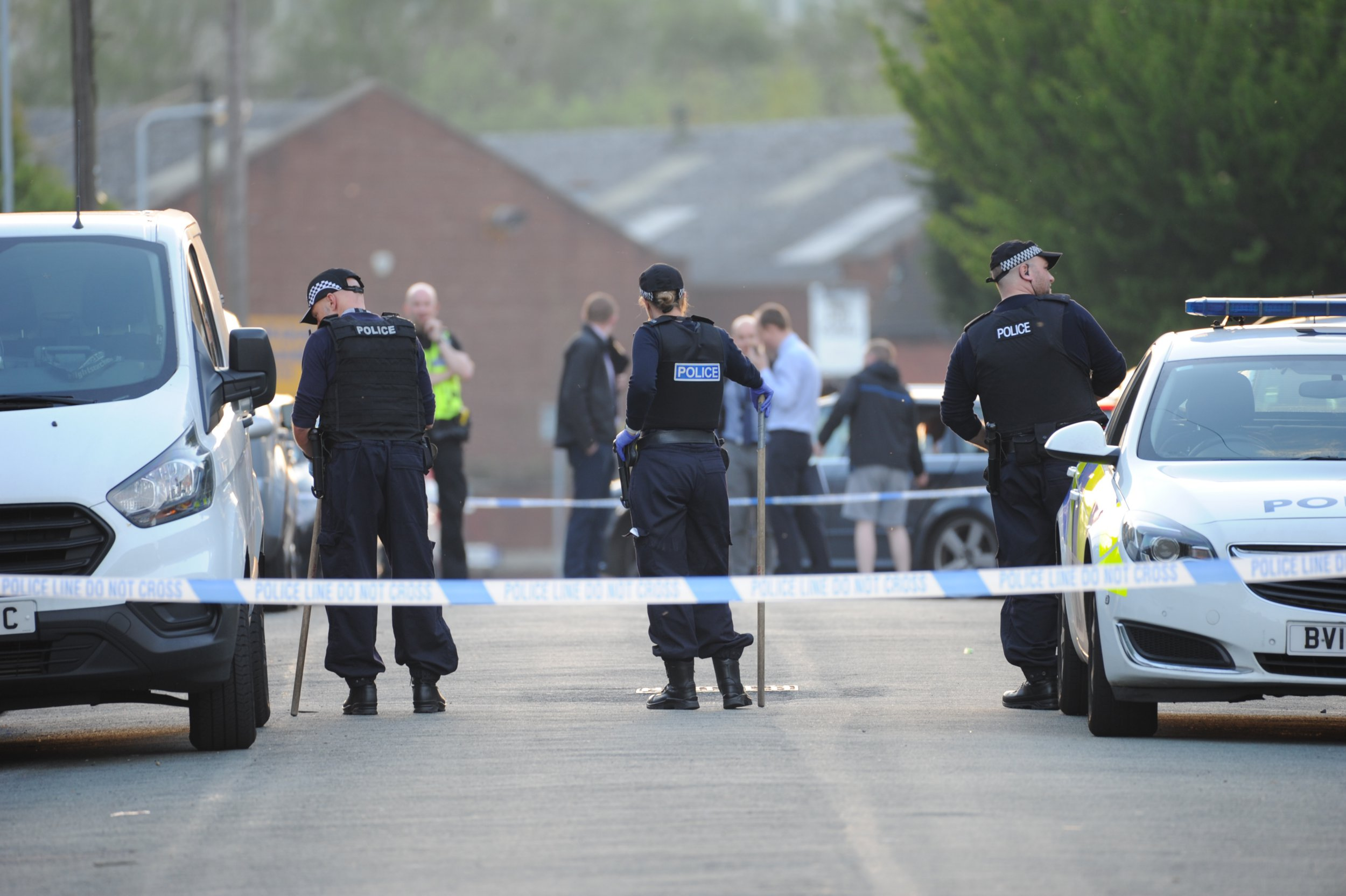 Pictured, 19/4/19 Police statement after 6 year old boy shot Wolverhampton We've launched an investigation after a child was injured after shots were fired at a house in #Wolverhampton just before 4pm this afternoon (Friday 19 April). It???s understood a group of men fired shots at a house in Ashbourne Road in the #Eastfield area of the city. A six-year-old boy, thought to be inside the house at the time, sustained injuries to his back and hand which fortunately aren???t thought to be life-threatening. This was a shocking incident where someone has opened fire with a shotgun in the middle of the day. A child has been injured and we need to establish exactly what has happened. The motive of this attack is not clear at this stage, but it???s clearly a hugely reckless act and we need to identify those responsible as soon as possible. We have extra officers, including armed officers, in the area as we???ve increased patrols to support and reassure the community during this concerning time. We???re doing all we can to find the offenders and as part of our investigation, CCTV is being examined and witnesses are being spoken to. If anyone was in the area at the time and saw what happened we would urge them to get in touch. Anyone with information can contact West Midlands Police on 101 or Live Chat via WMP Online between 8am and midnight. Alternatively people can call the charity Crimestoppers anonymously on 0800 555 111; callers won???t be asked for their names and calls cannot be traced. Please quote log number 1591 of 19 April.