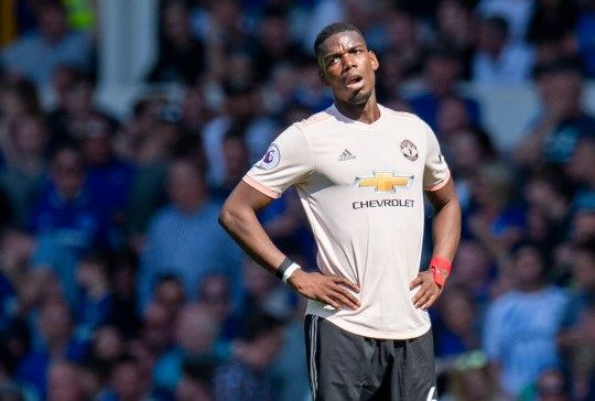 44d977f44ac epa07519853 Manchester United s Paul Pogba reacts during the English  Premier League soccer match between Everton and