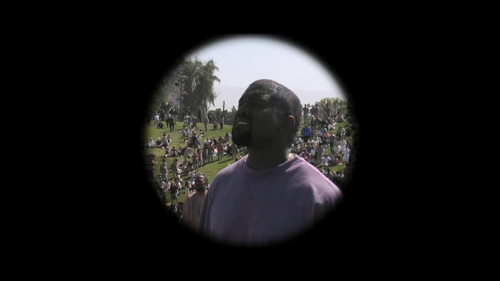 Kanye West and his Coachella Sunday Service
