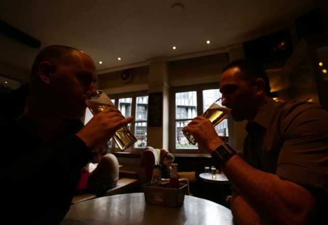 File photo dated 18/04/14 of patrons drinking in a pub. Almost 1,000 pubs vanished from communities in Britain last year, as the industry was hit by intense cost pressures and business rate increases. PRESS ASSOCIATION Photo. Issue date: Monday April 22, 2019. A total of 914 pubs disappeared in 2018, according to real estate data company Altus Group's annual review, set to be released this week. See PA story CITY Pubs. Photo credit should read: Yui Mok/PA Wire