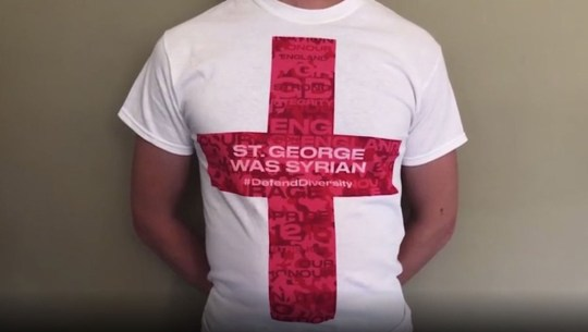 St George's cross prank Picture: Tell MAMA