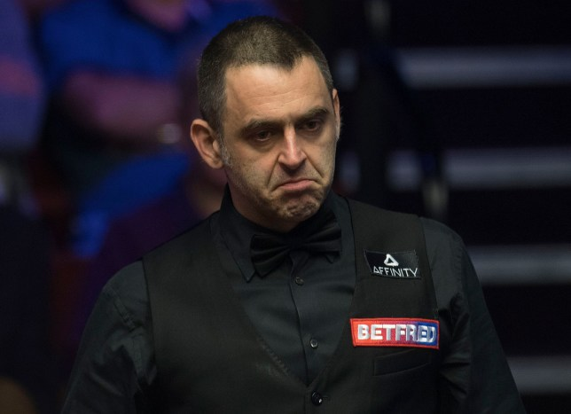 Mandatory Credit: Photo by Anna Gowthorpe/BPI/REX (10216666h) Ronnie O'Sullivan at the table during his first round match Betfred World Championships, Snooker, Day Four, The Crucible Theatre, Sheffield, UK, 23 Apr 2019