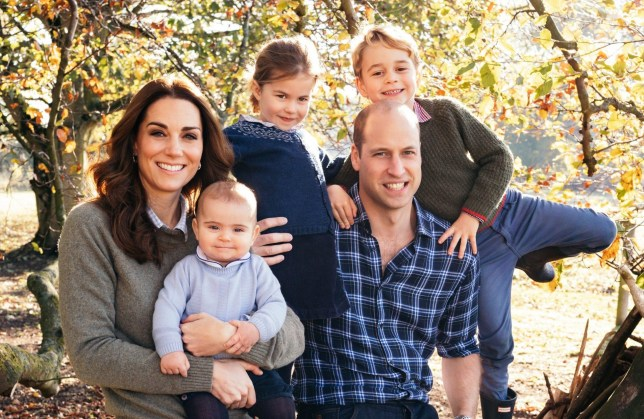 Kate Middleton, Prince William and their children Prince George, Princess Charlotte and Prince Louis
