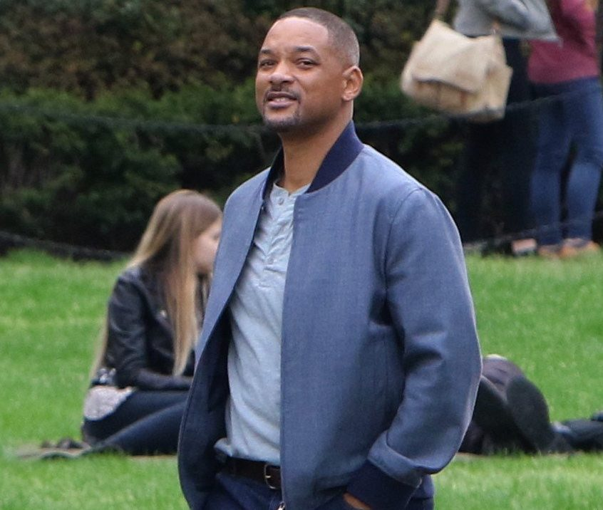"""Will Smith pictured arriving, before filming a scene at the """"Gemini Man"""" set in Brooklyn. Pictured: Will Smith Ref: SPL5081693 230419 NON-EXCLUSIVE Picture by: Jose Perez / SplashNews.com Splash News and Pictures Los Angeles: 310-821-2666 New York: 212-619-2666 London: 0207 644 7656 Milan: 02 4399 8577 photodesk@splashnews.com World Rights,"""