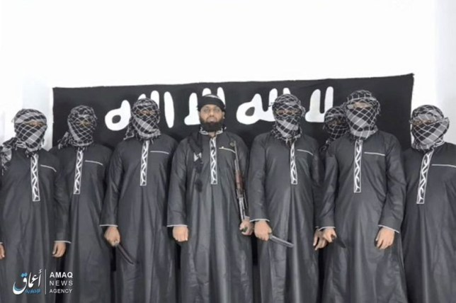 Isis release picture of Sri Lanka 'mastermind' and seven