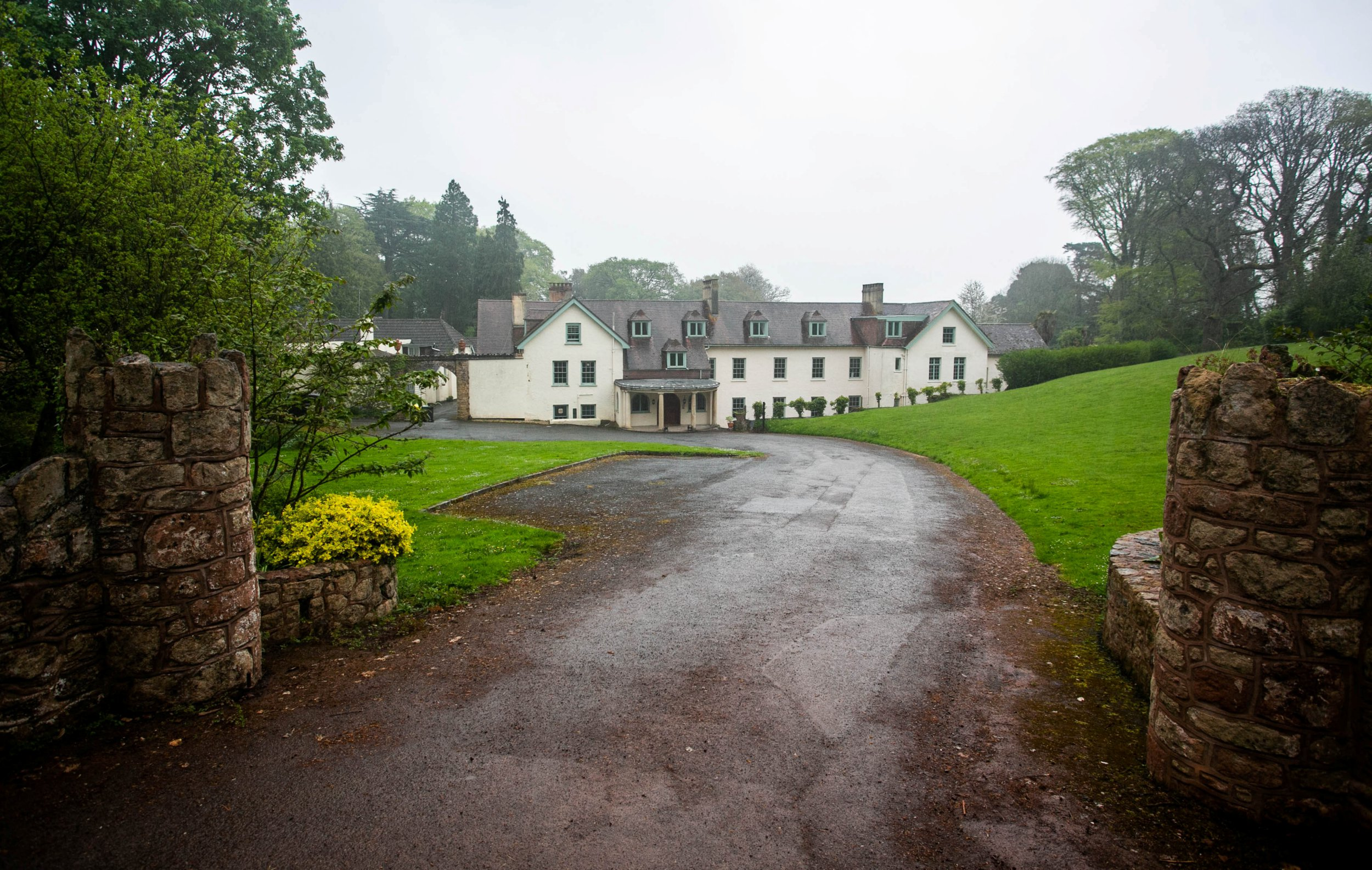 """Croydon Hall at the Exmoor National Park village of Rodhuish, Somerset, which is the venue for members only 'Exclusively Silks' parties. 24/04/2019 See SWNS story SWBRswinging. National Park officials are investigating claims a hotel in a tiny village is breaking planning laws - by offering group sex and SWINGER parties. Croydon Hall is located in the tiny Devon village of Rodhuish - which has a population of just 293 people. But neighbours have complained of people """"spilling out into the gardens and pool'' at night and say the noise is ruining the quality of life. The row came to light after a private club based there applied to extend the alcohol licence until 4am which has further infuriated locals and more than a dozen objected."""