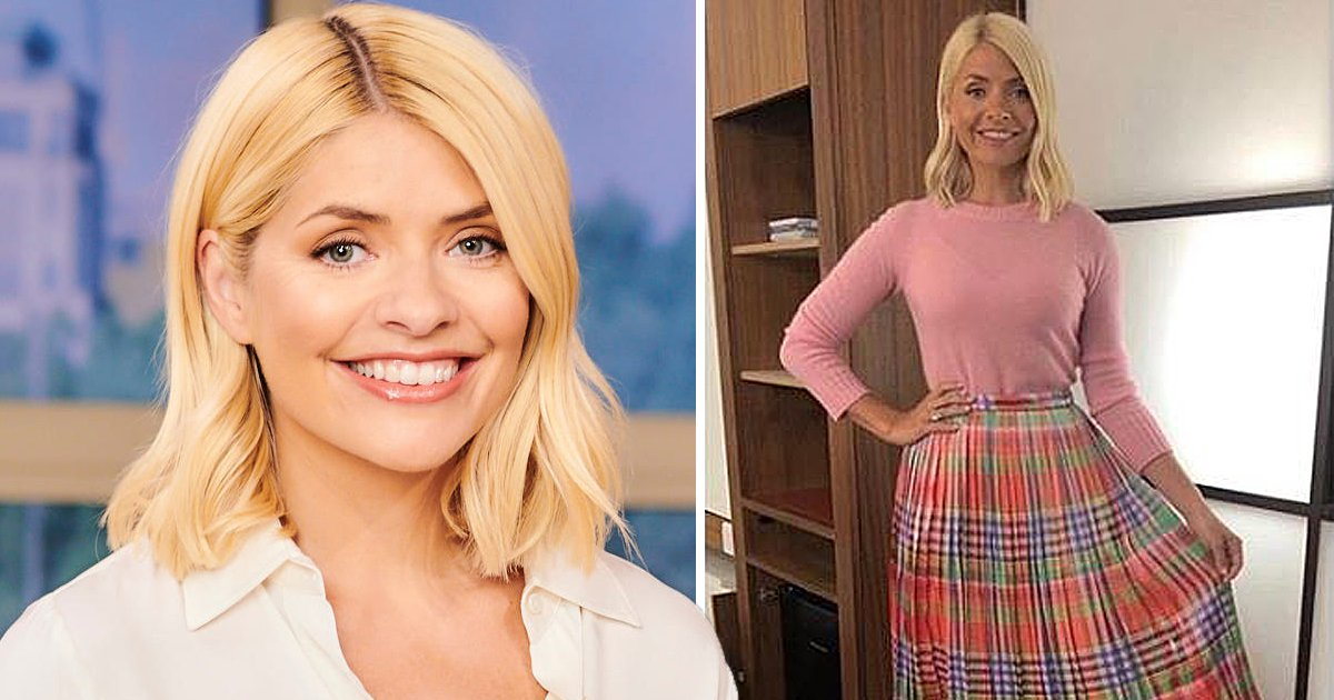Holly Willoughby embraces sunny weather in spring inspired pleated skirt