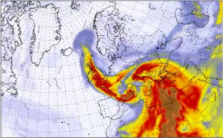 Sahara dust 23.04.2019 (Picture: Met Office)