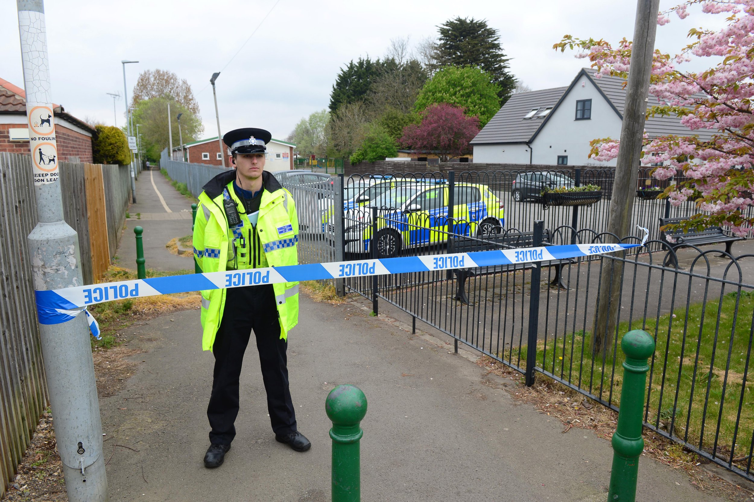 Part of a human leg has been found just yards from a school on a path in New Waltham. A dog walker made the grisly discovery on the old railway line at 6.45am and the area has been cordoned off by Humberside Police. Police say they believe the body part is a 'lower limb'. It was found close to the New Waltham Academy playing fields. There is a heavy police presence in the village as investigations are carried out around the popular trail, officially known as the New Waltham Peaks Parkway Path that runs from Low Farm roundabout to Station Road. Police have appealed for people to avoid the area and it is believed a route linking the path to the school has been closed.
