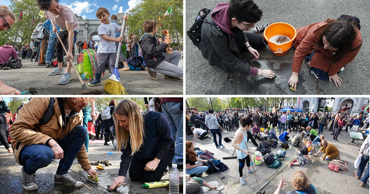 Extinction Rebellion clean up after themselves as climate protests finish