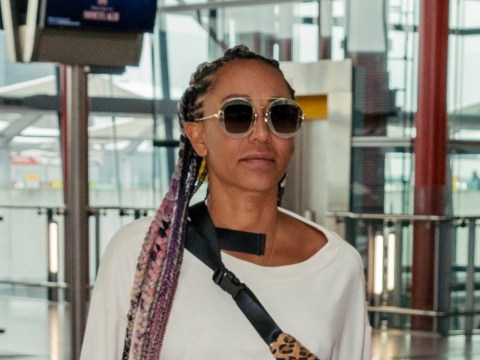 Mel B flies back to LA after reuniting with Geri Horner for Spice Girls rehearsals