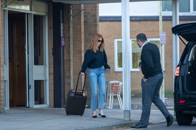EXCLUSIVE: * EMBARGO : Strictly No Web / Online Permitted Before 7.30pm GMT April 27 * Fee For Online After 7.30pm 300 GBP For Set * * Min Print Fee 200 GBP PP * Double Pg 1 * Stacey Dooley was spotted leaving a hotel in Peterborough, Cambs, this morning (Fri) after watching her Strictly Come Dancing boyfriend Kevin Clifton in his new show. The 32-year-old was all smiles after spending the night at the hotel, where the cast and crew of Kevin's show, Burn the Floor, were staying. The documentary maker wore shades as she left the hotel at around 6.30am this morning after watching her new pro-dancer boyfriend in his show at The Cresset theatre in Peterborough. It comes hours after she appeared to confirm their romance by posting a smiling photo of the two of them looking loved up on Instagram. Stacey was seen wearing the same outfit as in her Instagram post as she left the Premier Inn, wheeling an overnight suitcase and stepped into an Addison Lee taxi. Despite the early start she looked amazing as she stepped out in blue jeans, a baggy black top and strapless high heels. Pictured: Stacey Dooley Ref: SPL5082579 260419 EXCLUSIVE Picture by: SplashNews.com * EMBARGO : Strictly No Web / Online Permitted Before 7.30pm GMT April 27 * Fee For Online After 7.30pm 300 GBP For Set * * Min Print Fee 200 GBP PP * Double Pg 1 * Splash News and Pictures Los Angeles: 310-821-2666 New York: 212-619-2666 London: 0207 644 7656 Milan: 02 4399 8577 photodesk@splashnews.com World Rights