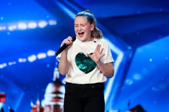 Giorgia Borg appearing in Britain's Got Talent