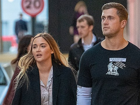 Jacqueline Jossa and Dan Osborne hold hands during date night as they put rift rumours to bed
