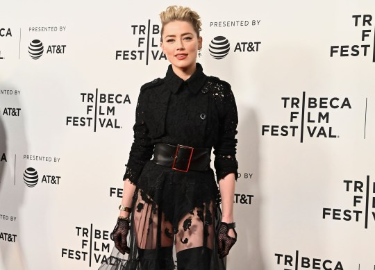 """NEW YORK, NEW YORK - APRIL 27: Actress Amber Heard attends """"Gully"""" screening at 2019 Tribeca Film Festival at SVA Theater on April 27, 2019 in New York City. (Photo by Astrid Stawiarz/Getty Images for Tribeca Film Festival)"""