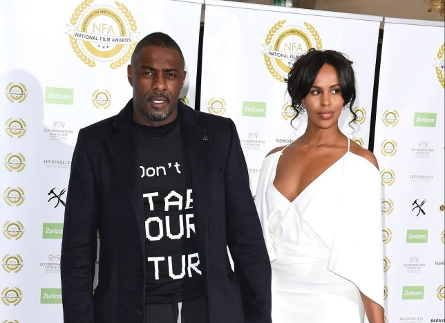 LONDON, ENGLAND - MARCH 27: Idris Elba and Sabrina Dhowre attend the National Film Awards at Porchester Hall on March 27, 2019 in London, England. (Photo by Jeff Spicer/Getty Images)