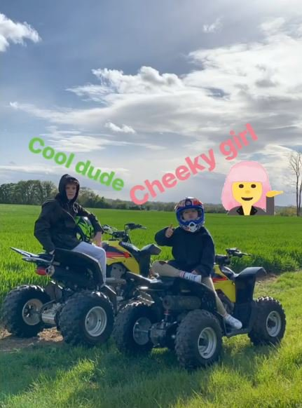 David Beckham Harper Beckham Instagram quad biking