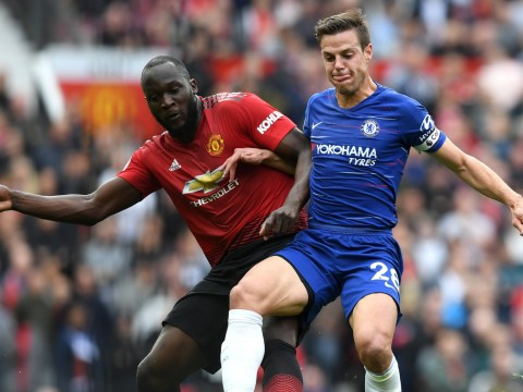 Cesar Azpilicueta responds to Romelu Lukaku barging him off the pitch during Chelsea's draw against Manchester United