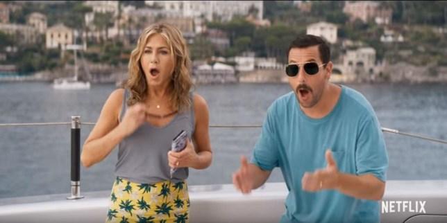 Murder Mystery starring Jennifer Aniston and Adam Sandler