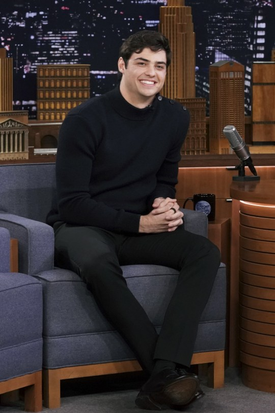 THE TONIGHT SHOW STARRING JIMMY FALLON -- Episode 1058 -- Pictured: Actor Noah Centineo during an interview on April 29, 2019 -- (Photo by: Andrew Lipovsky/NBC/NBCU Photo Bank via Getty Images)