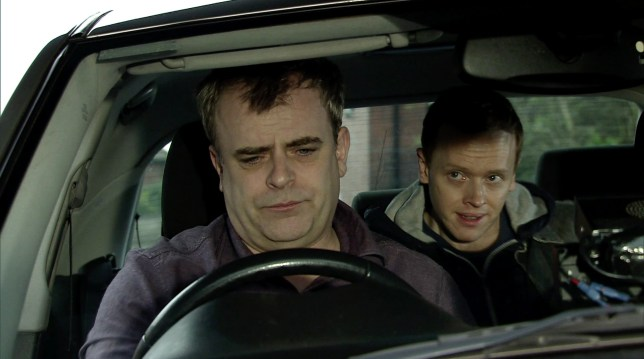 Steve McDonald (Simon Gregson) is kidnapped at knife point in Coronation Street