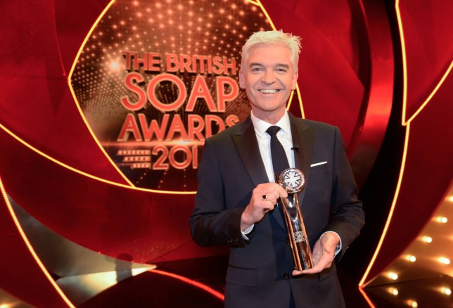 Television Programme : THE BRITISH SOAP AWARDS 2017 Saturday 3rd June 2017 Live on ITV Pictured: PHILLIP SCHOFIELD Phillip Schofield hosts from Manchester?s Lowry Theatre as The British Soap Awards go LIVE for the very first time! The British Soap Awards 2017 promises to be the most exciting and glamorous night in the showbiz calendar. Each year our soaps make us laugh, cry and gasp in equal measure and the last twelve months have been no exception. From Michelle Fowler?s shocking return in EastEnders to Steve and Leanne?s baby bombshell in Coronation Street, a multi car pile up causing devastation in Emmerdale, Jade and Alfie?s teenage cancer struggle in Hollyoaks and ?ITV Photographer Kieron Mccarron For further information please contact Peter Gray 0207 157 3046 peter.gray@itv.com This photograph is ? ITV and can only be reproduced for editorial purposes directly in connection with the programme British Soap Awards or ITV. Once made available by the ITV Picture Desk, this photograph can be reproduced once only up until the Transmission date and no reproduction fee will be charged. Any subsequent usage may incur a fee. This photograph must not be syndicated to any other publication or website, or permanently archived, without the express written permission of ITV Picture Desk. Full Terms and conditions are available on the website www.itvpictures.com