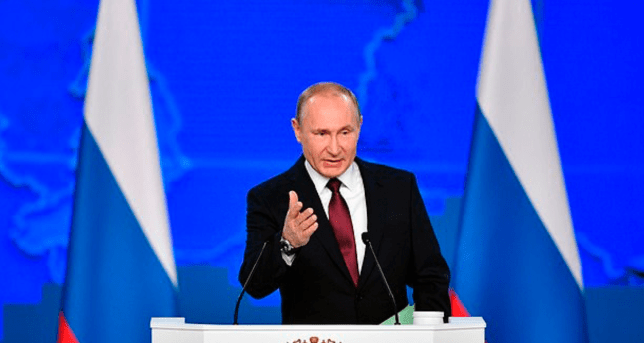 Vladimir Putin oversaw the launch of a vessel designed to carry a truly terrifying weapon of mass destruction (Image: Getty)