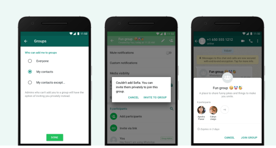 A view of the new privacy feature (Image: WhatsApp)