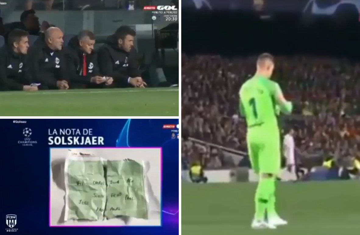 Manchester United tactical note picked up by Marc-Andre Ter Stegen
