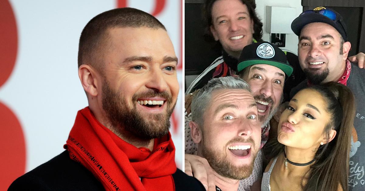 Justin Timberlake, NSYNC and Ariana Grande after Coachella collab