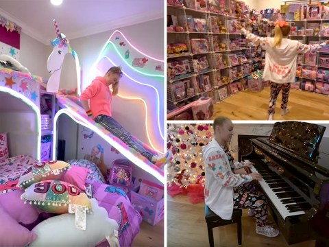 Inside YouTuber JoJo Siwa's rainbow, merch-laden house as she collaborates with North West