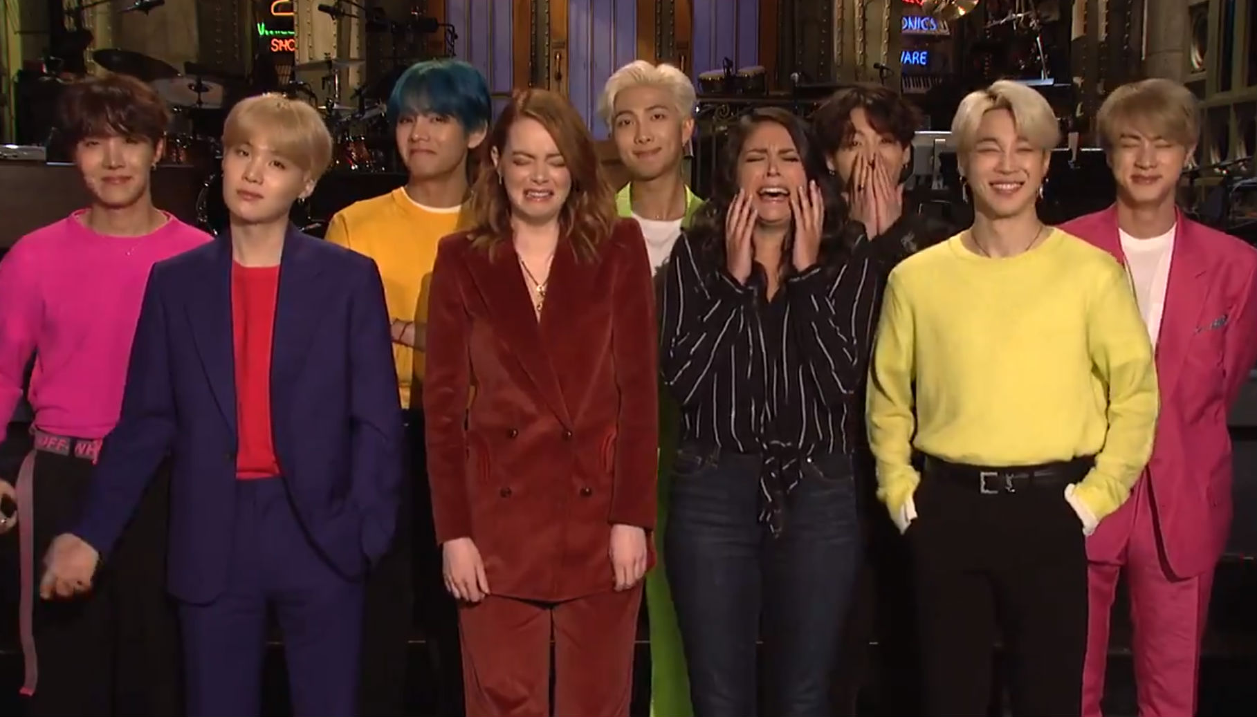 BTS hype up SNL appearance and ARMY fans can't get enough of their facial expressions