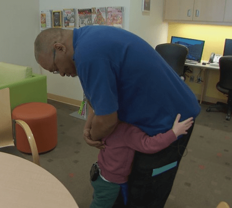 Sick little boy, 4, makes best friends with janitor who cleans his room