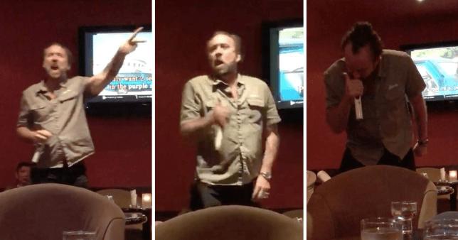 Nic Cage at karaoke