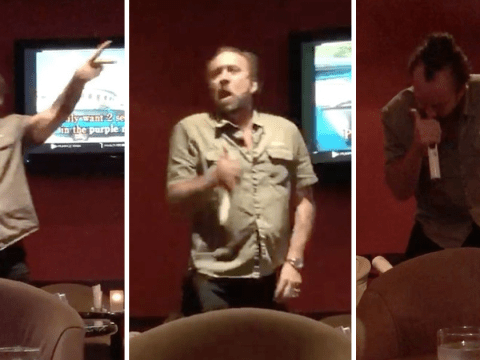 Nicolas Cage belts out Prince at karaoke as he ignores upcoming annulment fight